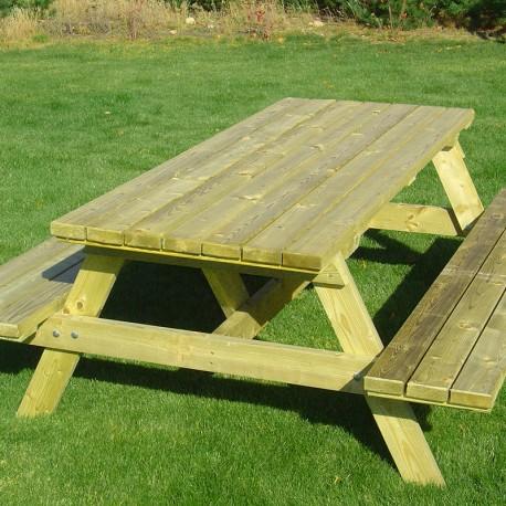 Table de pique nique de jardin en bois de pin autoclave classe 4