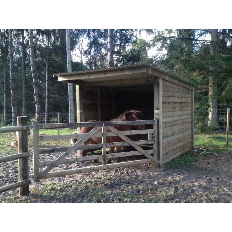 Abri chevaux vendre construire un abri de pr en bois for Abri bois 1 pente