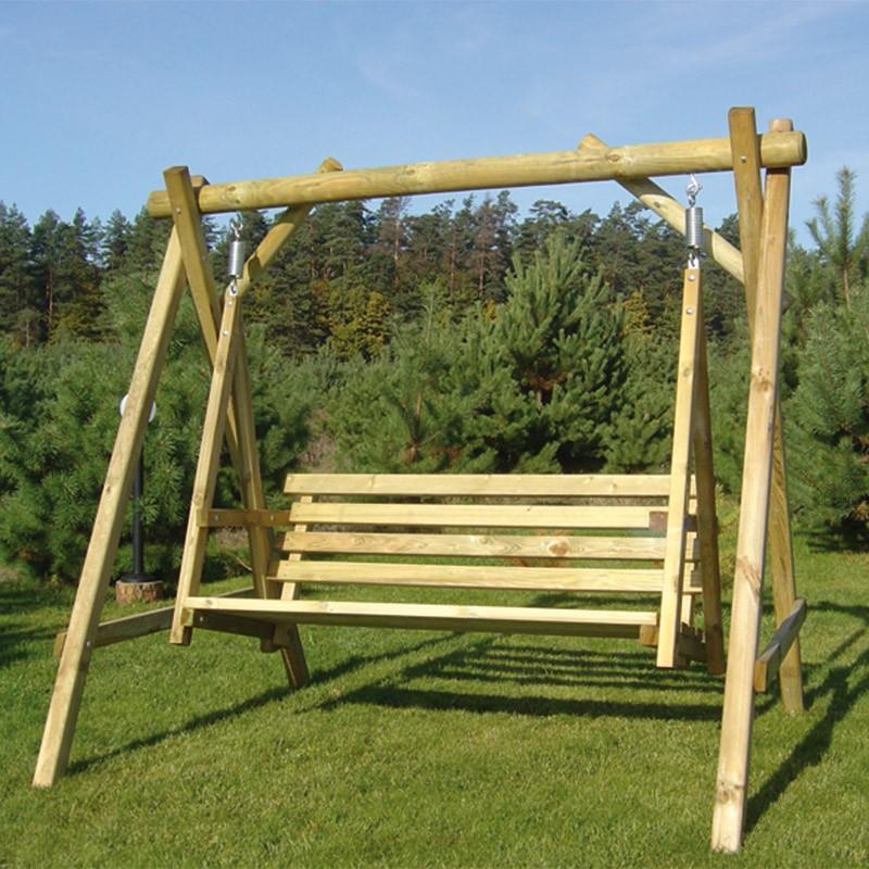 Balancelle en bois de pin autoclave classe 4 for Balancelle bois jardin