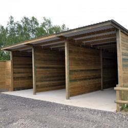 Hangars de stockage premium 1 pente